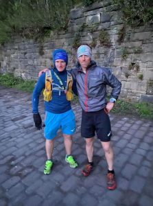 Stephen & Ed at the finish - 4.50am