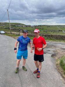 Stephen & Ed at Wainstalls about 32 miles in